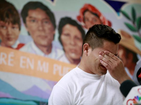 In this June 2018 photo, Christian, from Honduras, recounts his separation from his child at the border. A judge has given the federal government six months to identify children separated from their families.