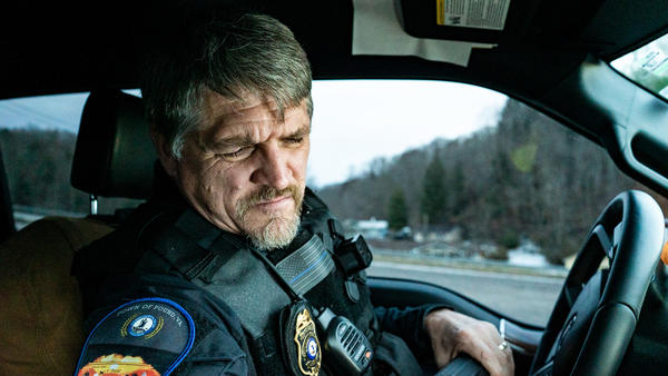 Detective Tim McAfee waits for speeding vehicles just outside of Wise County.