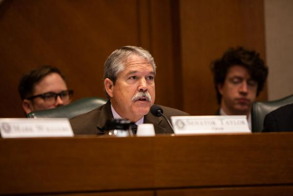 """Sen. Larry Taylor said the bill would """"significantly improve equity"""" within the school finance system."""