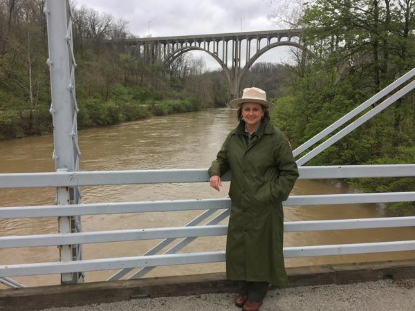 Pamela Barnes, Cuyahoga Valley National Park's community engagement supervisor, says Junior Ranger Day is a way for young people to connect with the parks, since they'll be the next generation to care for places like the CVNP.