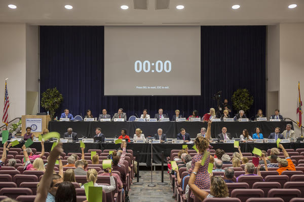 The Florida Constitution Revision Commission met in Tampa in May 2017.