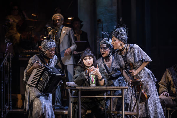 <em>Hadestown</em> was nominated for 14 Tony Awards, including one for best musical and another for best leading actress in a musical (Eva Noblezada, center). The awards ceremony is scheduled for June 9.