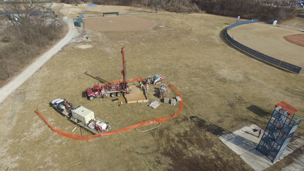 Parkway South High School drilled a test geothermal energy well last year in preparation of installing a $2.4 million system to replace its aging cooling equipment.