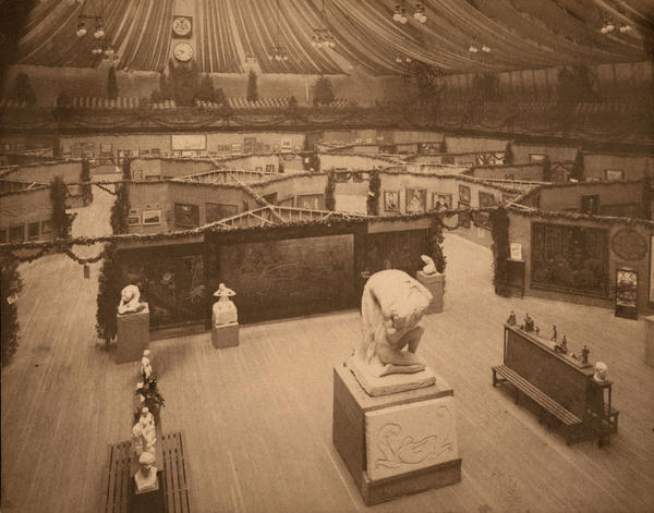 """The 69th Regiment Armory on East 25th Street may have seemed like an odd venue, but it was big enough to hold the 1,400-work exhibition. """"There were lots of comparisons in 1913 of the Armory Show being a bomb from the blue, so the Armory is not inappropriate,"""" says curator Kimberly Orcutt."""