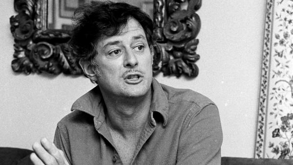 Frank Deford is shown here in 1984, four years into his gig as sports commentator on <em>Morning Edition</em>.