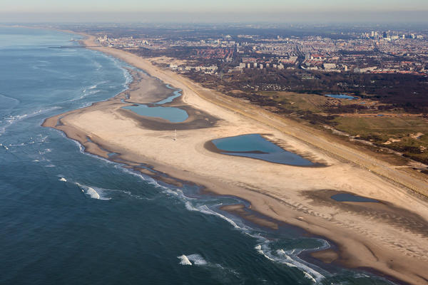 A huge sandbar-shaped peninsula along the southern coast of the Netherlands is one of the country's latest experiments in coastal management. <strong> </strong>