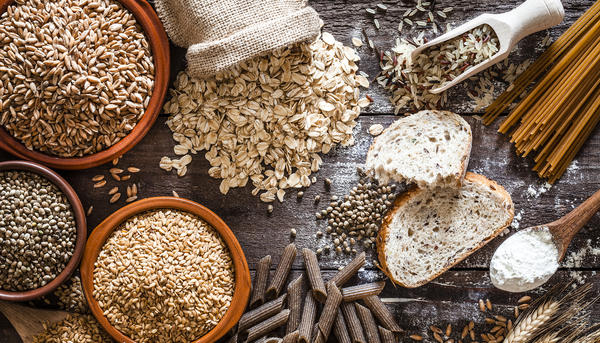Slow carbs like whole-grain breads and pastas, oats and brown rice are rich in fiber and take more time to digest, so they don't lead to the same quick rise in blood sugar that refined carbs can cause.