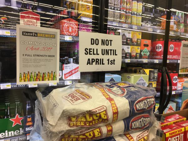 Beginning April 1, grocery stories in Kansas no longer have to sell beer limited to 3.2 percent alcohol.