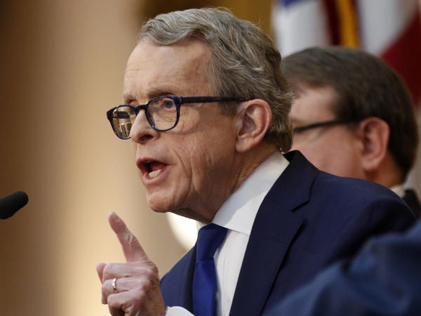 """Ohio Gov. Mike DeWine signed the """"heartbeat bill"""" one day after it passed the Republican-led General Assembly."""