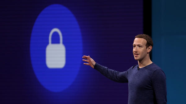 Facebook CEO Mark Zuckerberg speaks during the Facebook F8 developers conference on May 1, 2018, in San Jose, Calif.