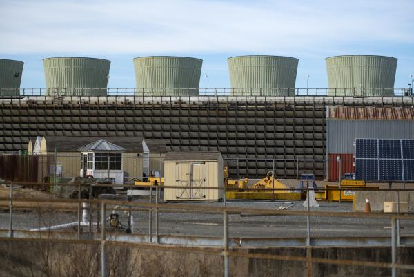 Peach Bottom Atomic Power Station in Pennsylvania is one of 80 sites around the country where some 80,000 metric tons of nuclear waste is stored.
