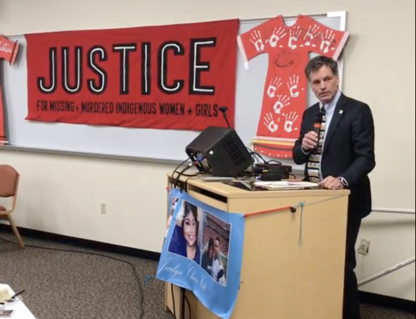Wyoming Gov. Mark Gordon announced the task force in an address to an audience at a rally on the University of Wyoming campus.