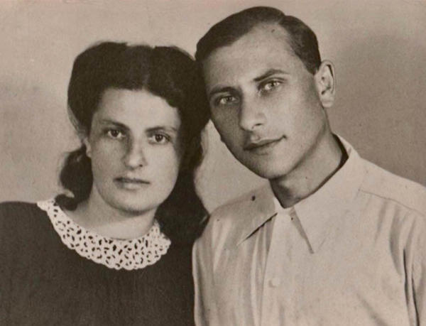 Pauline and Judel Schuster on their wedding day in Stalingrad in April 1945. Judel died in 1997; Pauline died in 2011.