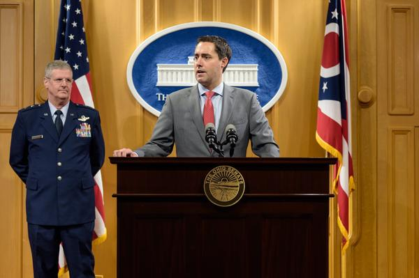 Secretary of State Frank LaRose has defended Ohio's congressional map in court.