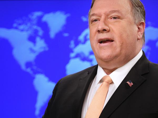 U.S. Secretary of State Mike Pompeo, pictured in March, said he plans to tell his Russian counterpart, Foreign Minister Sergey Lavrov, that Moscow must stop meddling in the Venezuelan crisis.
