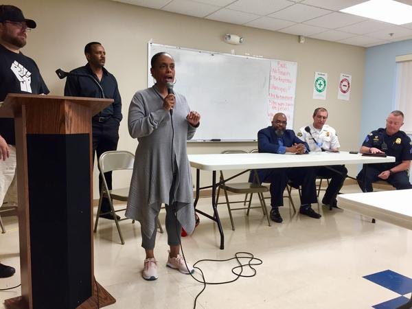The Better Dayton Coalition and Dayton Police officers updated residents about preparations for the KKK-group's rally.