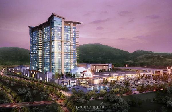 An artist's rendering of the proposed casino in Cleveland County.