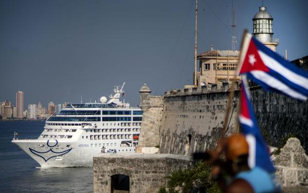 Carnival's Fathom cruise line ship Adonia arrives from Miami in Havana on May 2, 2016. Two years later, two U.S. citizens have filed suits against Carnival Corp. for using docks they say the Cuban authorities seized from their families