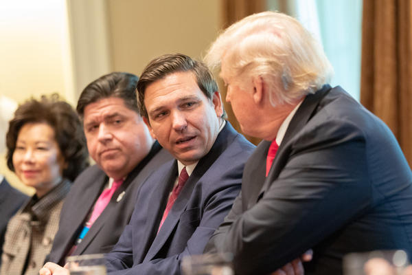 2018 meetting between Gov. Ron DeSantis and President Donald Trump