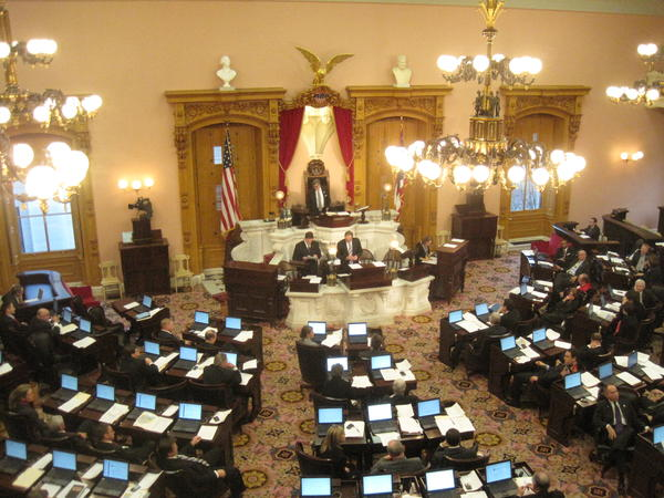 The Ohio House in session in December 2011, when the Congressional map was created.