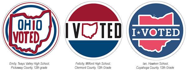 The final three 'I Voted' sticker designs