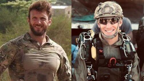 Commandos Cédric de Pierrepont (left) and Alain Bertoncello were killed during a rescue operation that freed four hostages in Burkina Faso, France's navy says.