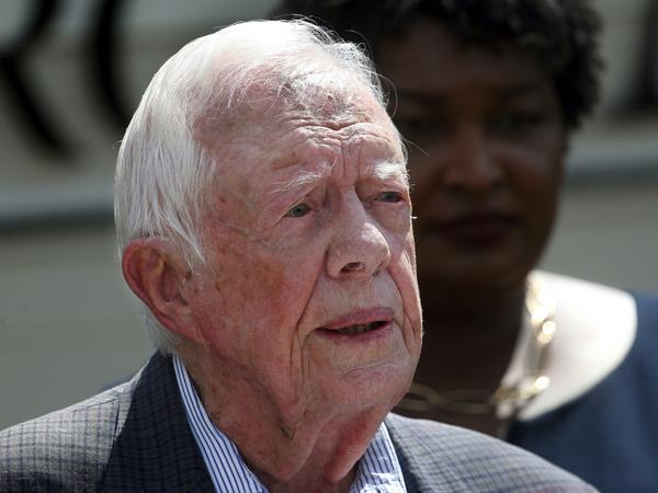 The Carter Center says former U.S. President Jimmy Carter has broken his hip. He had surgery at a medical center in Americus, Ga.