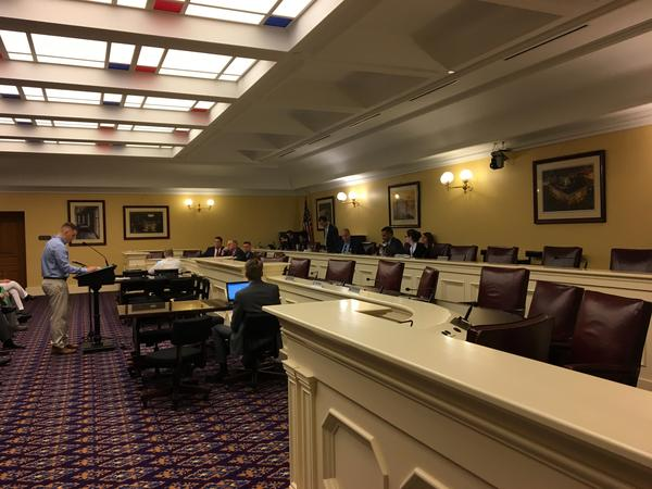 """Democratic members of the House Energy and Natural Resources Committee left during testimony on House Bill 6, calling it a """"stunt committee meeting"""". They returned more than an hour later."""