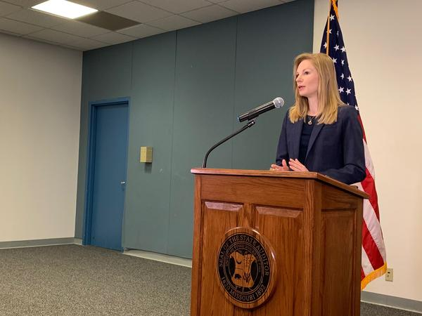Missouri Auditor Nicole Galloway announces her office will audit the government of St. Louis County, the St. Louis Economic Development Partnership and the St. Louis County Port Authority.