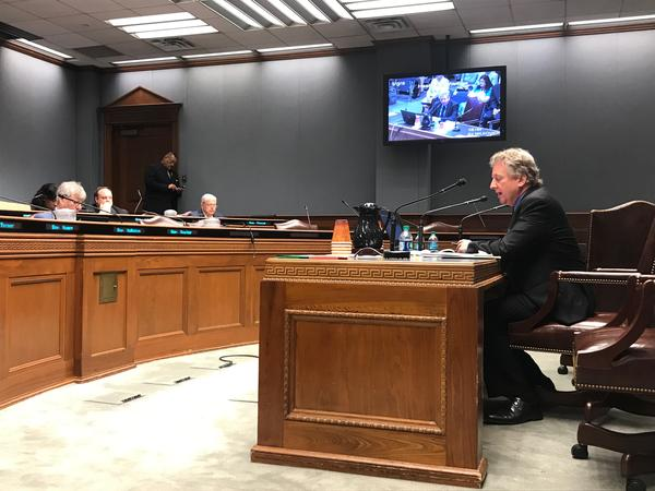 Senator John Milkovich (D-Shreveport) testified in front of the House Health and Welfare committee Wednesday, May 15.