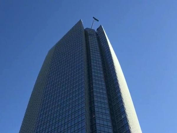 Firefighters have rescued two window washers trapped on the Devon Tower in Oklahoma City.
