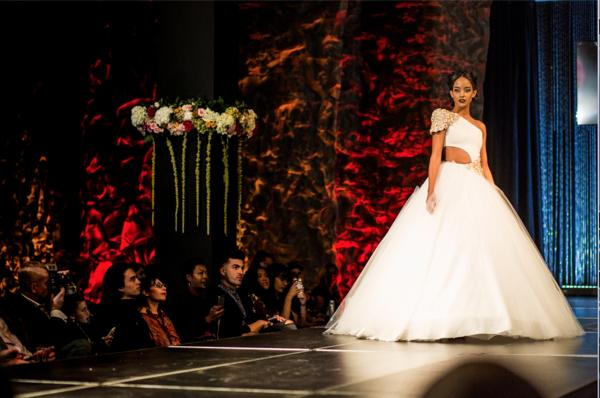"An Usama Ishtay gown featured during the 2018 ""Art Walks the Runway"""