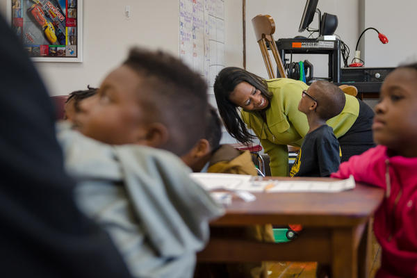 Iris Jackson became a teacher in St. Louis Public Schools through St. Louis Teacher Residency. She was a long-time substitute and reading tutor before getting certified through the residency program.
