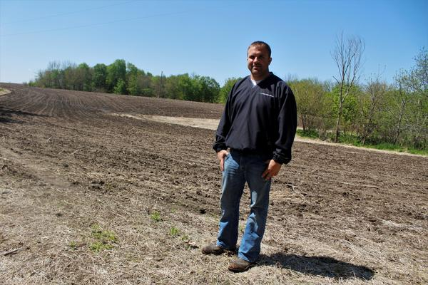 Jared Kunkle is a farmer in Warren County, Illinois, and president of the Warren-Henderson Farm Bureau. He says he feels lucky to have planted most of his corn and half of his soybeans. Many other farmers haven't even started.