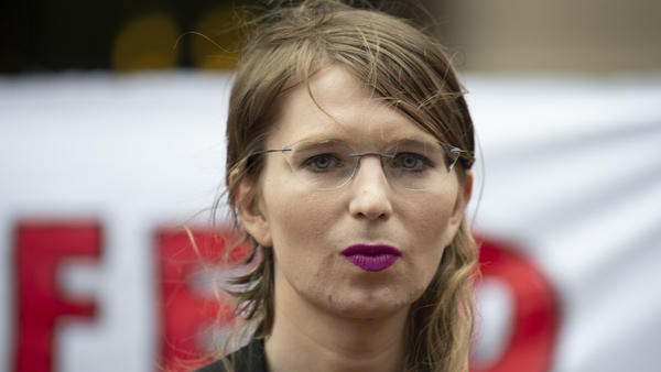 Former military intelligence analyst Chelsea Manning speaks to reporters in Virginia on Thursday. After Manning refused to testify before a grand jury, U.S. District Judge Anthony Trenga said she was in contempt of court and ordered her back to jail.