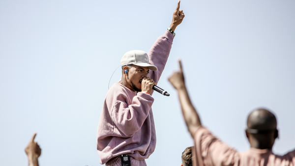 Chance The Rapper performs at Sunday Service during the 2019 Coachella Valley Music And Arts Festival.