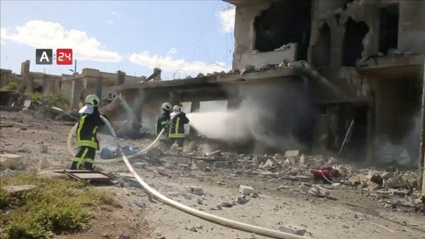 On May 6, an air strike destroyed Nabd Al-Hayat hospital in Syria's Idlib province.