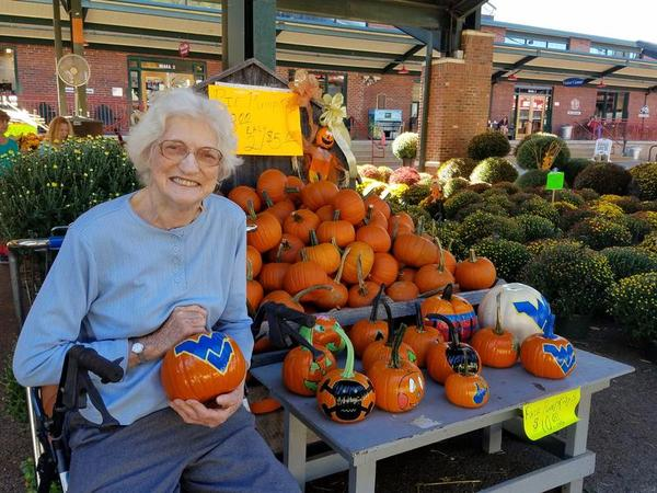 85-year-old Betty Jones sits at Capitol Market in Charleston. Faith in Action helps Jones go to the grocery store, run errands and get to the doctors office when she needs it.