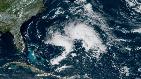 "A satellite image from 1 p.m. ET Monday shows ""Disturbance 1,"" which at the time had a 70% chance of becoming a tropical storm, according to the National Hurricane Center."