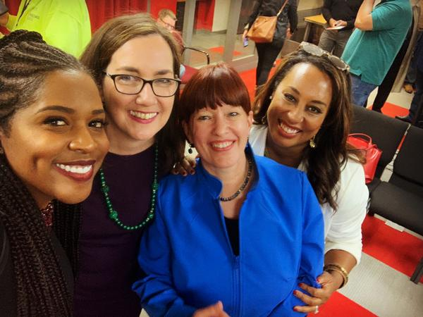 From left to right: Rep. Jehan Gordon-Booth, Rep. Kelly Cassidy, Sen. Heather Steans and Sen. Toi Hutchinson