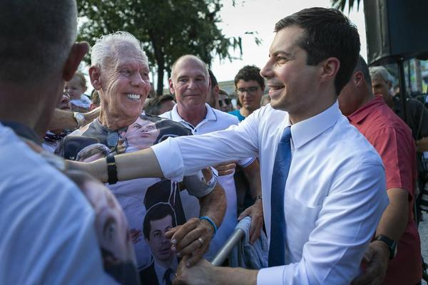 Democratic presidential candidate Pete Buttigieg held a fundraiser in Miami on Monday after meeting with local students and entrepreneurs.