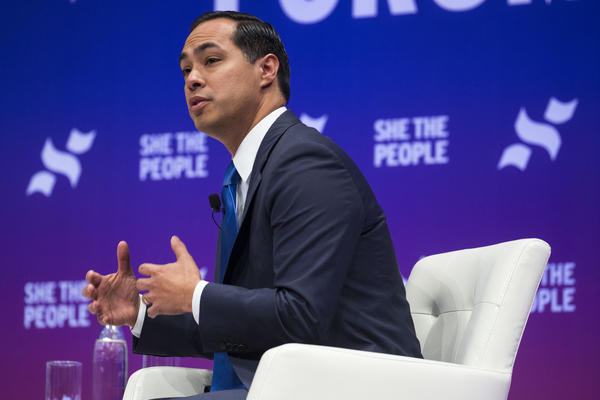 Julián Castro speaks at the She the People forum for 2020 Democratic presidential candidates at Texas Southern University last month.