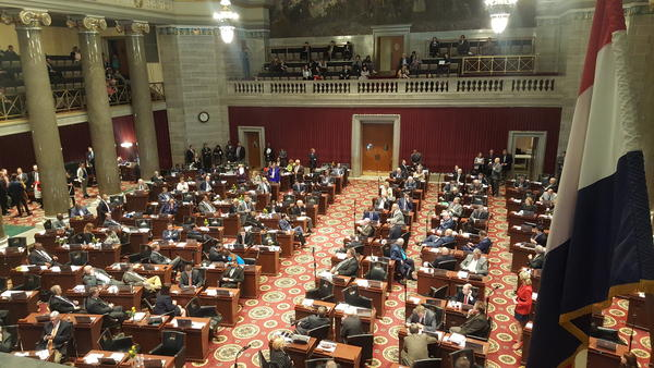 A view of the floor of the Missouri House, where lawmakers debated the abortion bill for hours during the 2019 session..