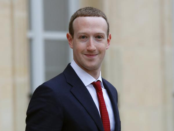 Facebook CEO Mark Zuckerberg, pictured earlier this month in France, told reporters on Thursday that the tech giant is making great strides in fighting hate speech and crime online.