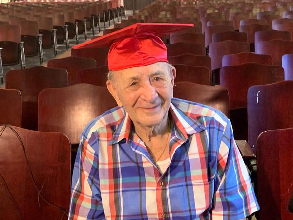 95 year-old WWII veteran Joe Perricone will walk at Hillsborough High School's graduation Saturday to finally receive his diploma in person.