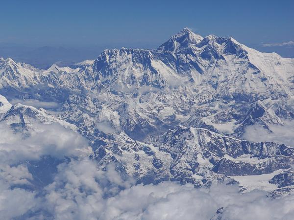 A Utah man died Wednesday on his descent from Mount Everest, seen here last month.