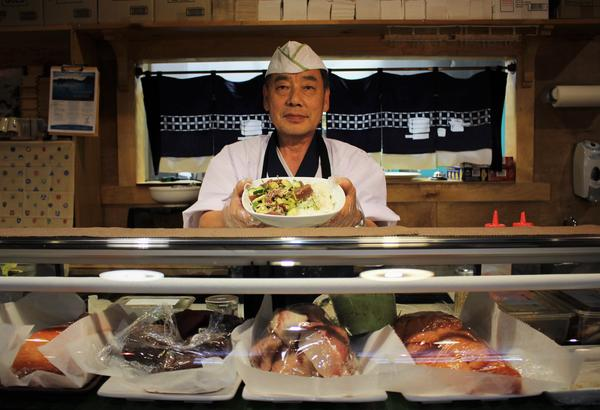 After working in Maui, Bob Shin of Bob Wasabi brought a poke bowl back to Kansas City.