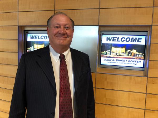 Chuck Jones at the John S. Knight Center where FirstEnergy held its annual shareholders meeting on Tuesday, May 21, 2019