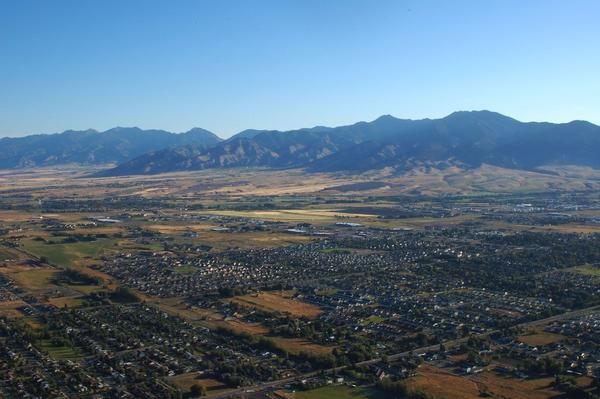 Aerial view of Bozeman, 2008.