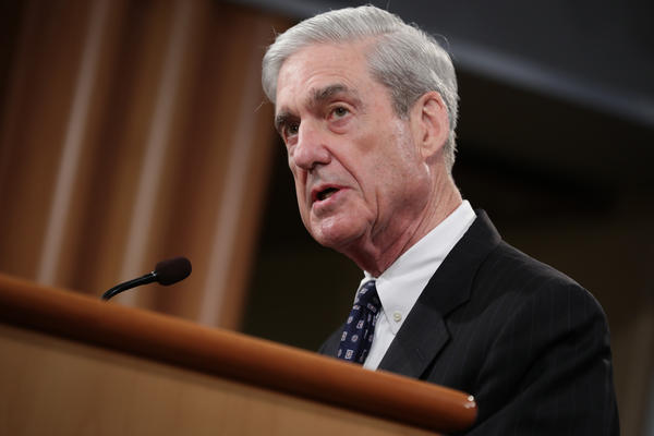 Special counsel Robert Mueller makes a statement about the Russia investigation on Wednesday at the Justice Department.